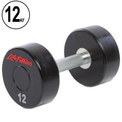 Гантель цельная профессиональная Life Fitness 1х12 кг, код: SC-80081-12