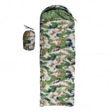 Спальник-ковдра Tactical Камуфляж зелений (1800+300)х750 мм, код: S1005B-WS