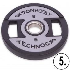 Диски полиуретановые Technogym с хватом и металлической втулкой 5кг (d-51мм), код: TG-1837-5-S52