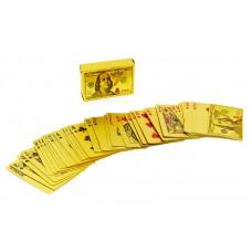 Игральные карты золотые PlayGame Gold 100 Dollar 54 шт, код: IG-4568