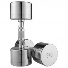 Гантель хромована 1х9 кг, код: 80034B-9