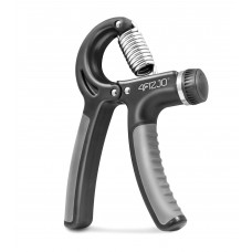 Эспандер кистевой пружинный с регулируемой нагрузкой 4Fizjo Black/Grey 10-40 кг, код: 4FJ0159