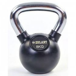 Гиря обрезиненная Zelart 8 кг., art: TA-5162-8