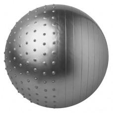 М'яч для фітнесу комбі FitGo 65 см, сірий , код: 5415-27GR-WS