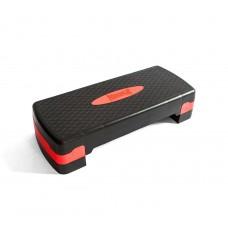 Cтеп-платформа PowerPlay двурівнева 10-15 см чорно-червона, код: PP_4328_(2)_Black/Red