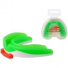 Капа боксерская PowerPlay Green/White, код: PP_3316_SR_Green/White
