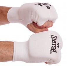 Рукавички-накладки для карате Matsa білий розмір XS-XL, код: MA-0009-W-S52