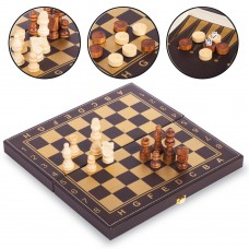 Шахи, шашки, нарди 3 в 1 ChessTour 300x300 мм, код: L3008