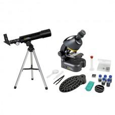Микроскоп National Geographic Junior 40x-640x + Телескоп 50/360 (с кейсом), код: 926260-SVA