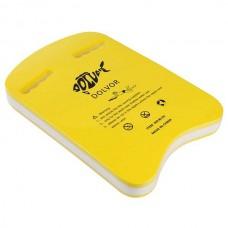 Доска для плавания Dolvor желтый/белый 425х280х43 мм, код: DLV-3U-3