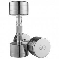 Гантель хромована 1х6 кг, код: 80034B-6