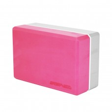 Блок для йоги двухцветный SportVida Pink/Grey, код: SV-HK0336