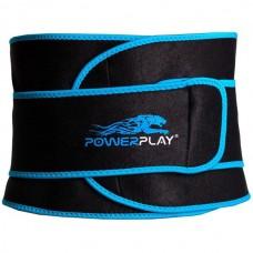 Пояс для схуднення PowerPlay Black/Blue, код: PP_4303_Black/Blue