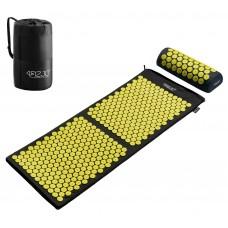 Килимок акупунктурний з валиком 4Fizjo Аплікатор Кузнєцова Black / Yellow 128x48 см, код: 4FJ0087