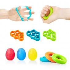 Набор эспандеров для пальцев и запястья 4Fizjo 9 шт, код: 4FJ0133