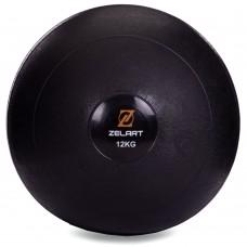 М'яч набивної слембол для кроссфіта рифлений Modern Slam Ball 12 кг, код: FI-2672-12-S52