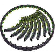 Обруч масажний з магнітами FitGo Hula Hoop Double Grace Magnetic 8 секцій 1,35 кг, код: JS-6002