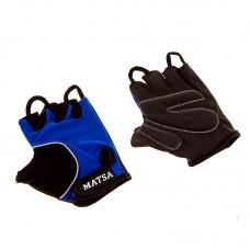 Перчатки вело, фитнес Matsa лайкра размер L синий, код: MT-1000LB
