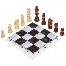 Шахматные фигуры деревянные с полотном из PVC ChessTour, код: 300P