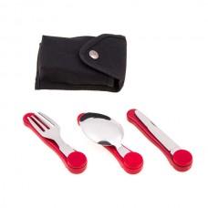 Набор туристический Camping вилка, ложка, нож, HX-6, код: HX-6