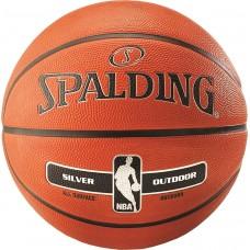 Мяч баскетбольный Spalding NBA Silver Outdoor Size 5, код: 3001592020015