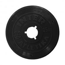 Диск InterAtletika чорний 0,5 кг, код: ST520.1B