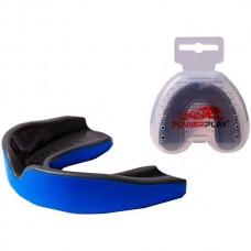 Капа боксерская PowerPlay Blue/Black, код: PP_3315_SR_Blue_Black