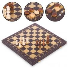 Шахи, шашки, нарди 3 в 1 кожзам PlayGame 340x340 мм, код: L3508