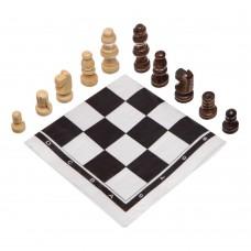Шахматные фигуры деревянные с полотном из PVC ChessTour, код: 18P