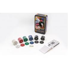 Набір для покеру в металевій коробці PlayGame, код: IG-4590