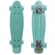 Скейтборд пластиковий Penny Led Wheels 22in з світяться колесами м'ятний, код: SK-5672-6-S52