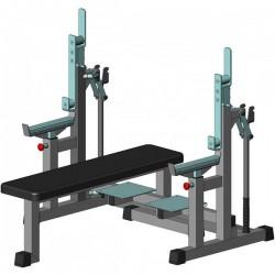 Скамья для пауєрлифтинга InterAtletika Gym Business, код: BT327