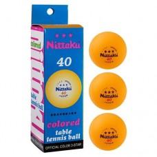 Шарики для настольного тенниса PlayGame Nittaki 3*, 3 шт, код: NB-1912