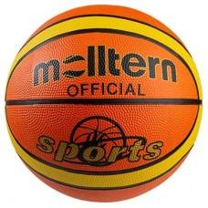 М'яч баскетбольний Molltern Official Sport гумовий №7, помаранчевий, код: 607/8M-WS