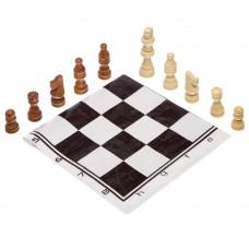 Шахові фігури дерев'яні з полотном з PVC ChessTour, код: 205P