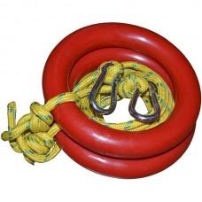 Кольца гимнастические InterAtletika с карабином, код: ST-020.2K