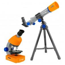 Микроскоп Bresser Junior 40x-640x + Телескоп 40/400, код: 928504-SVA