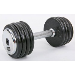 Гантель цілісна професійна сталева Record 1х12,5 кг, код: TA-7231-12_5