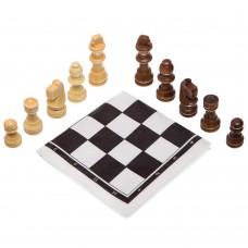 Шахматные фигуры деревянные с полотном из PVC ChessTour, код: 202P