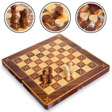 Шахматы, шашки, нарды 3 в 1 ChessTour, код: 7788C