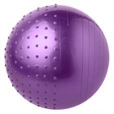 М'яч для фітнесу комбі FitGo 65 см, фіолетовий, код: 5415-27V-WS