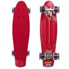 Скейтборд пластиковий Penny Led Wheels 22in з світяться колесами червоний-чорний, код: SK-5672-10-S52