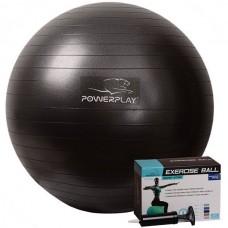 Мяч для фитнеса PowerPlay 650 мм Black, код: PP_4001_65_Black