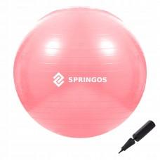 Мяч для фитнеса Springos 75 см Anti-Burst Pink, код: FB0012
