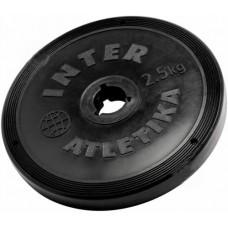 Диск InterAtletika чорний 2,5 кг, код: ST520.3B