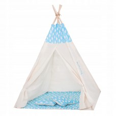 Дитячий намет (вігвам) Springos Tipi XXL White/Sky Blue, код: TIP05