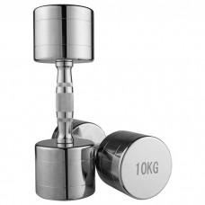 Гантель хромована 1х10 кг, код: 80034B-10