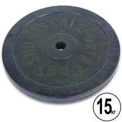 Диск обрезиненный Shuang Cai Sports 15кг (d-30мм), код: TA-1446-15S-S52