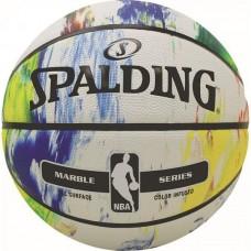 Мяч баскетбольный Spalding NBA Marble Black White Outdoor, код: NBA-MBW-OUT_7