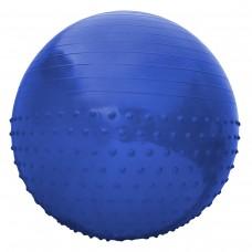 Мяч для фитнеса (фитбол) полумассажный SportVida Anti-Burst Blue 55 см, код: SV-HK0290